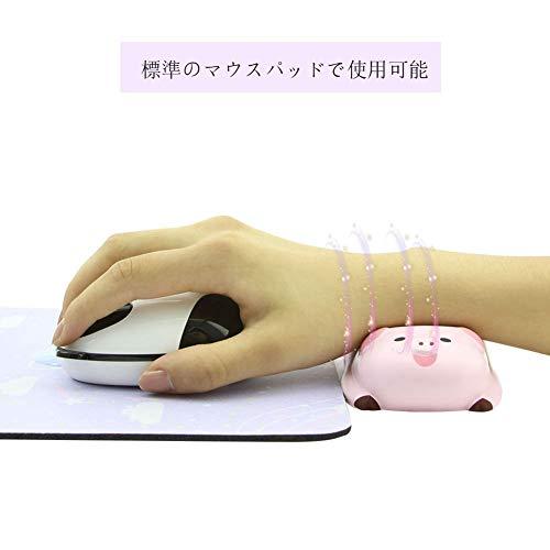 2個セットマウス用リストレストかわいい豚のデザインソフト快適低反発ハンドレストパームレストマウスアームレスト手首クッション腕置き人間工学滑り止めオフィス/ゲーム/ノートパソコン/ノートPC用(2セット/ピンク)