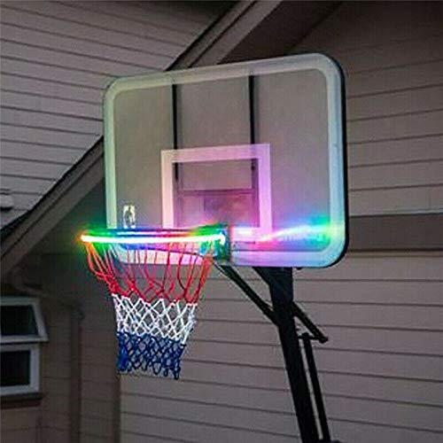 LED Basketball Hoop Lights – Solar Basketball Rim LED Light...