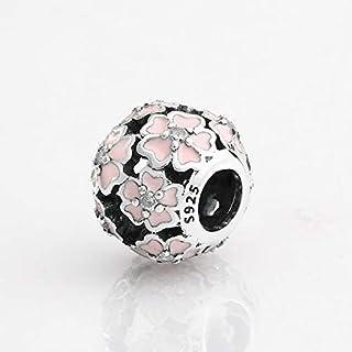 Atiq Cherry Blossom Clip Pandora Style Charm for Women