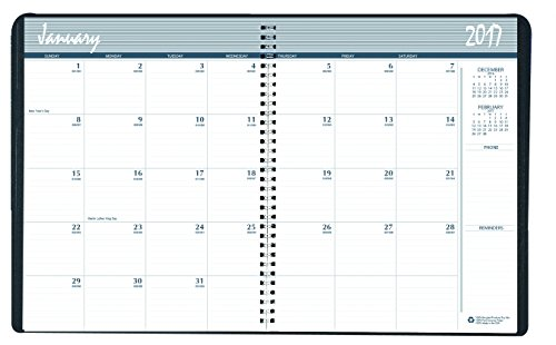 House of Doolittle 2017-2 Year Calendar Planner, Monthly, Black Hard Cover, 8.5 x 11 Inches (HOD262092-17) Photo #2