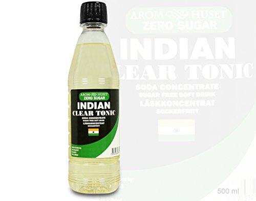 Zero Indian Tonic Getränkesirup Zuckerfrei - 500 ML - Funktioniert mit allen Wassersprudler