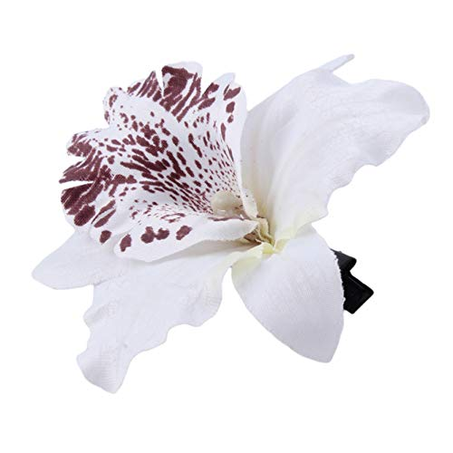 Cngstar Frauen Mädchen Orchidee Blume Böhmische Haarspange Hochzeitsfeier Haarspange Haarnadeln,Weiß