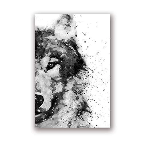 Wolf Wald Tier moderne abstrakte Wandkunst Poster Wohnzimmer Home Decoration 30x40cm
