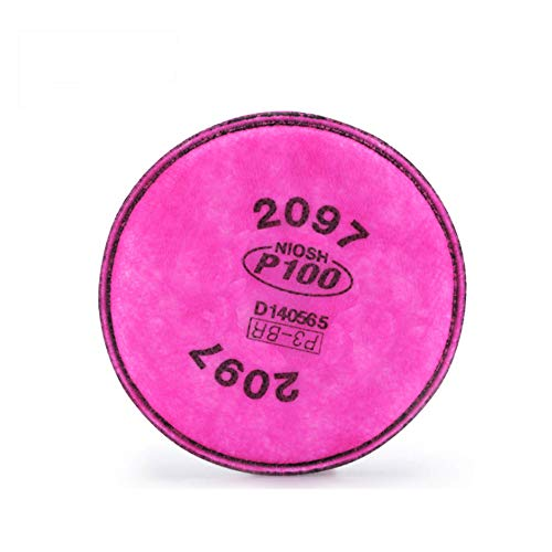 DENGE Particulate Filter Compatible with 2097 P100 Installed on 6000 7000 FF-4 Filter Retainer Use, 4.3 Inch (6 Pcs 3 Pairs)