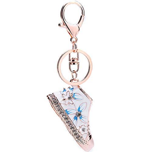 N/ A Mode Strass Kristall Blumenschuhe Schlüsselbund Schlüsselanhänger Schlüsselring Frauen Mädchen Handtasche Charm Tasche Auto Schlüsselanhänger Ringe