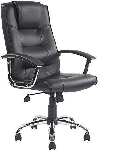 Melbourne High Back Black Leather Faced Executive Office Chair Savanna Cook