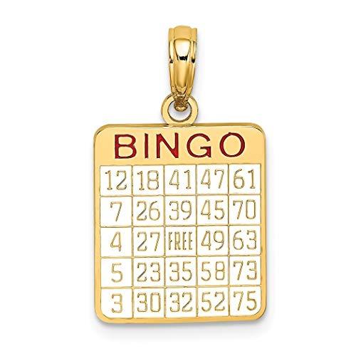 14ct Gold Bingo Kaart met Emaille Bedel