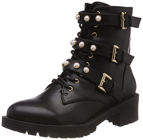 Bianco Damen Pearl Biker Boots, Schwarz (Black 100), 39 EU