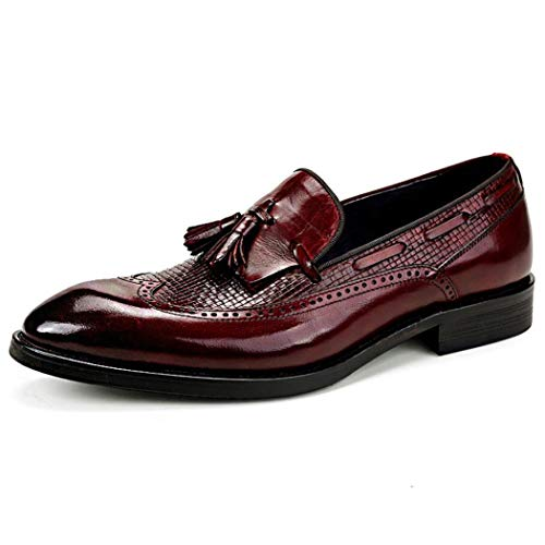 Primavera de los hombres de negocios zapatos de cuero marea de los hombres zapatos de vestir zapatos de hombre de Inglaterra borla zapatos