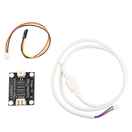 Tidyard Módulo de Sensor V1 de monitoreo de Calidad del Agua de sonda de medidor TDS con Conector de Cable de Puente XH2.54-3Pin para Arduino