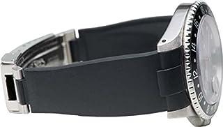 Everest EH-2 BLACK - Cinturino per orologi Rolex in gomma nera vulcanizzata, interamente prodotto in Svizzera