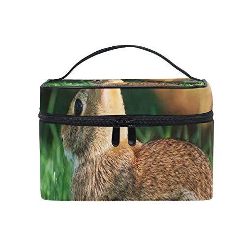 Sac de maquillage mignon lapin lapin sac cosmétique portable grand trousse de toilette pour femmes/filles voyage