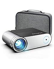 Vamvo 1080p Full HD przenośny projektor wideo 5500 Lux z Dolby, kino domowe, kompatybilny z HDMI/VGA/USB/laptopem/TV Stick/PS4, 200''