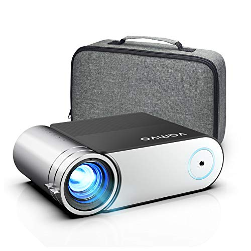 Proiettore, Vamvo L4200 Proiettore Portatile, Supporta 1080p Full HD, Mini Proiettore Videoproiettore Cinematografico 5800 Lumens con 50,000 Ore, Per TV Stick iOS Android Laptop Regalo HDMI USB  PS4