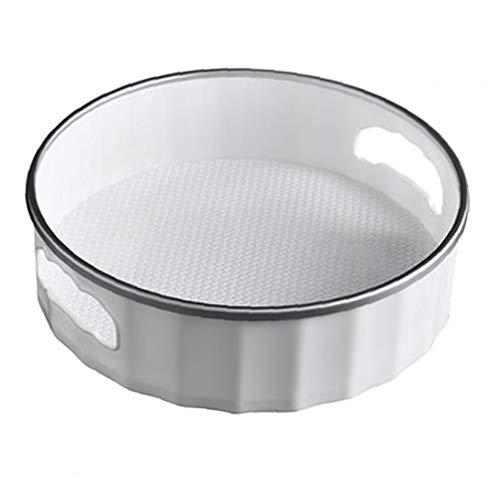 shentaotao Rotación de contenedor de Almacenamiento rotativo condimento estantes Gris Plata S Tamaño de la Placa giratoria Armario Organizador de la Cocina Uso