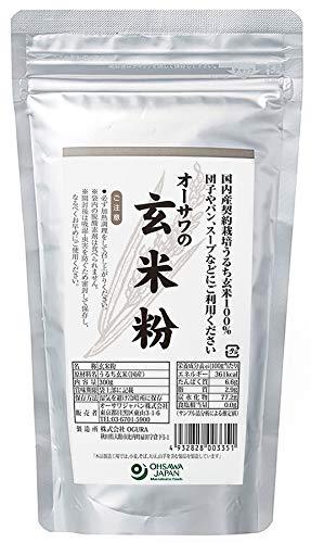 オーサワ 国内産契約栽培玄米使用 玄米粉 300g