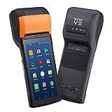 Handheld Android POS Terminal Android 7.0 Bondrucker Quittungdrucker 5.45' mit 4G WiFi Bluetooth MUNBYN SUNMI V2 Eingebauter Thermodrucker PDA IPDA049