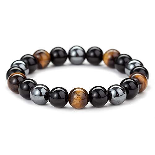 10mm obsidian tigerauge und magnet perlen mala armband tibetische buddhistische buddha meditation halskette/armband