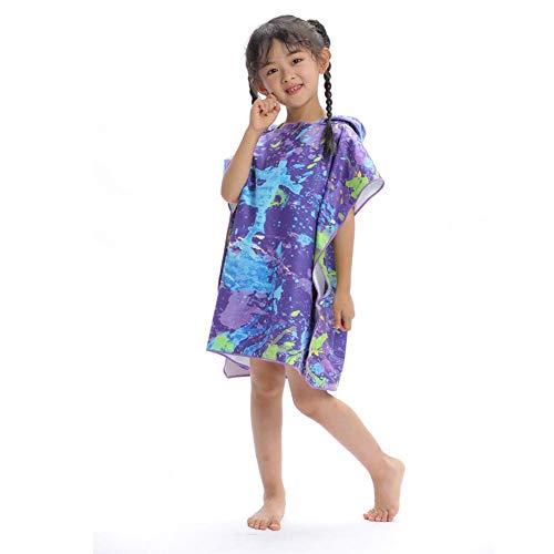 Babybadhanddoeken met capuchon, strand, sneldrogende omhang, badjassen, volwassenen modellen, wisselende capuchonbadjassen, badhanddoeken badjas voor kinderen, strandmuts M