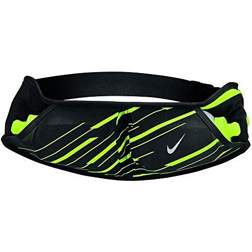 Nike Unisex Double Flask Hydration Running Waistpack Belt Black 10 oz Bottles