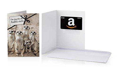 Buono Regalo Amazon.it - €50 (Biglietto d'auguri Da parte di tutti noi)