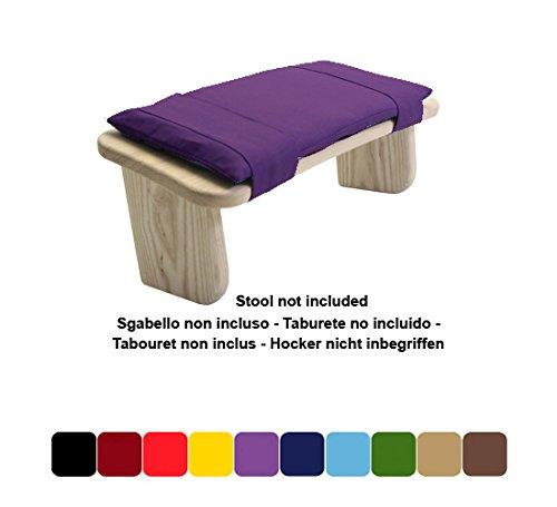 Blue Banyan Cushion to fit Budget Birch Ply Meditation Stool (Birch Ply Fixed Leg Stool or Birch Ply Folding Stool) - Purple