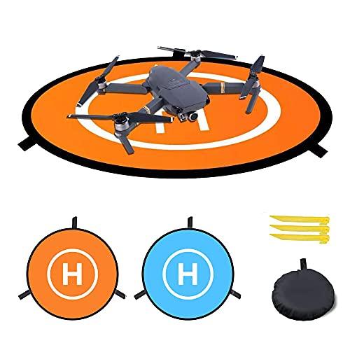 Tapis d'atterrissage universel étanche 75 cm pour drone télécommandé,Fonction lumineuse,drone DJI Phantom 3/4,Drone Solo 3DR,DJI Mavic Pro,DJI Inspire,Antel Robotic X-star