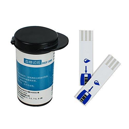 Blutzuckermessgerät Diabetische Blutzuckermessstreifen Blau 50 Stück 50 kostenlose Lanzetten (Teststreifen)