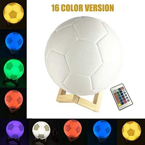HS-HWH219 3D-Druck-Fußball-Lampe Fußball Schreibtisch-Nachtlicht-Touch 16 Farben Schlafzimmer-Dekoration-Nachtlichter Tisch-Kind-Geschenk