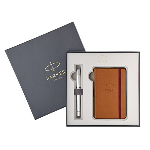 Parker Urban Premium - Set de pluma estilográfica y cuaderno, color perla