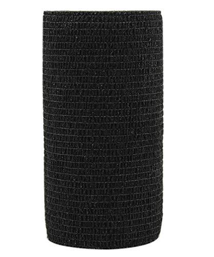 Risscly Schwarz 10cm cohesive Bandage,selbsthaftende fixierbinde verband bandage mullbinden selbsthaftend bandagen 6 Rollen