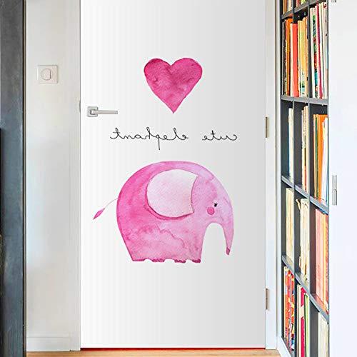 lihaohao Old Wooddeurfolie plakfolie, olifantendier 90cm*200cm A