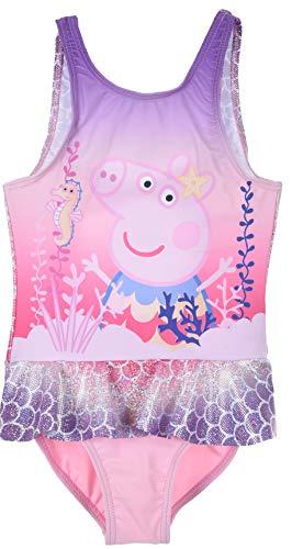 Peppa Wutz - Peppa Pig Badeanzug Bademode (Pink 3, 104)