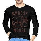 Camisetas de Manga Larga, Hombre, Camisas Casual, Ropa Deportiva, Men's Modest Mouse Long Sleeve T-Shirts Black