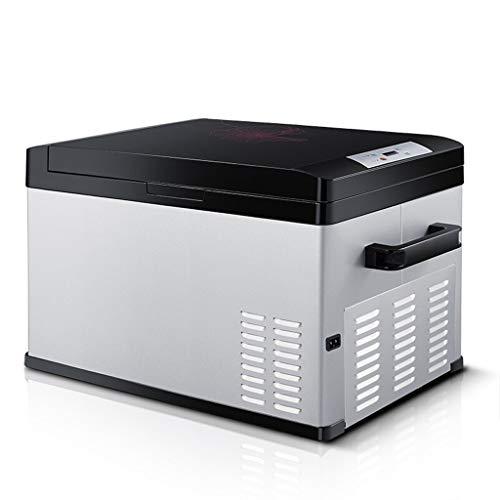QCYSK Liter tragbare Digitalanzeige Kompressor Kühlschrank Gefrierschrank, 12 V / 24 V / 220 V - Grau/Schwarz (25 l)