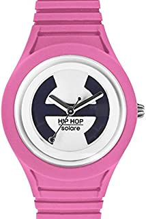 Hip Hop Watches - Orologio da Donna - Collezione Solare - Cinturino in Silicone - Impermeabile 5 ATM - Cassa 34mm