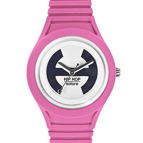 Hip Hop Watches - Orologio da Donna Pink Lemonade HWU0533 - Collezione Solare - Cinturino in Silicone - Impermeabile 5 ATM - Cassa 34mm - Rosa