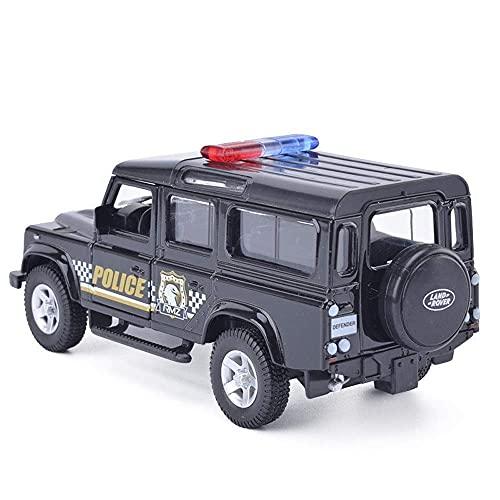 Decoración del hogar Modelos de coches Modelos de vehículos fundidos a presión Colección de niños de juguete Decoración de regalo Modelo de coche de simulación 1/24 Sonido original y L (coche intel
