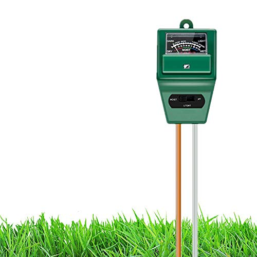 Save %45 Now! Hofun Soil pH Meter, 3-in-1 Soil Moisture/Light/pH Tester Gardening Tool Kits for Plan...