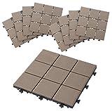タカショー 敷くだけタイル 磁器A ブラウン 300×300 1セット(9枚り)