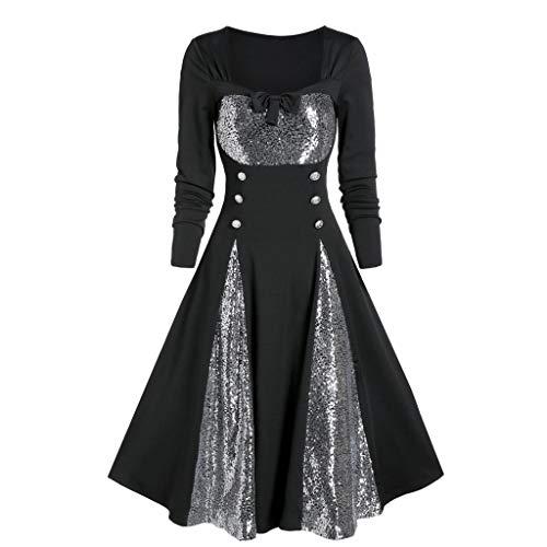 Cinnamou Femme Grande Taille Médiévale Déguisement Adulte Rétro Maxi Robe Manches évasées Cosplay Gothique Palais Halloween Carnaval