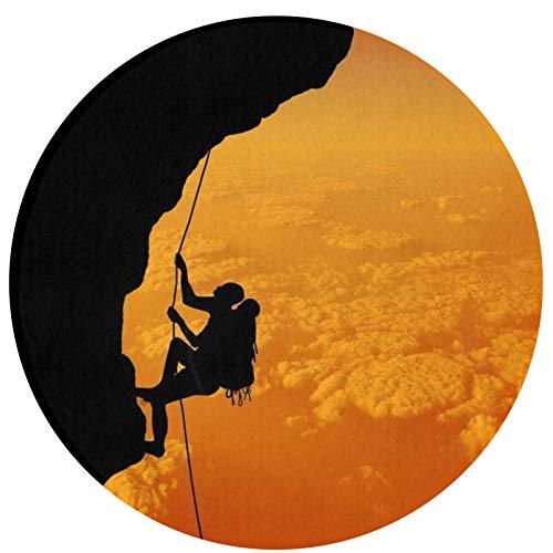 HMYATSO Rock Climbing Adventure Printed Non Slip Absorbent Doormat Resist Dirt Front Door Mat