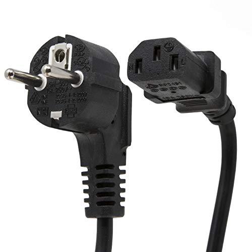 Extrastar Netzkabel Stromkabel 1,5m für PC, Monitor, Drucker, PS3 / PS4 Kaltgerätekabel schwarz GH003 (1er Set)