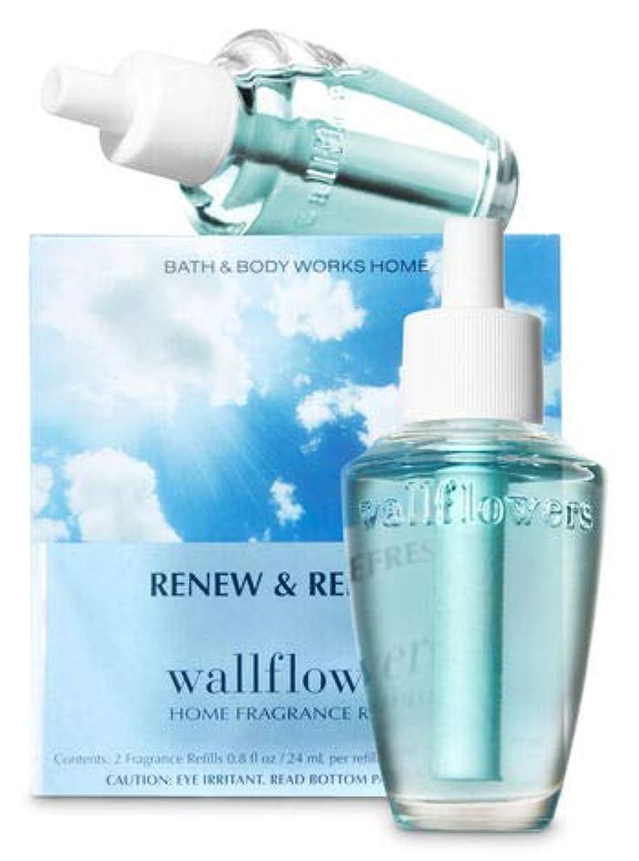 フラグラント口ひげ提案【Bath&Body Works/バス&ボディワークス】 ホームフレグランス 詰替えリフィル(2個入り) リニュー&リフレッシュ Wallflowers Home Fragrance 2-Pack Refills Renew & Refresh [並行輸入品]