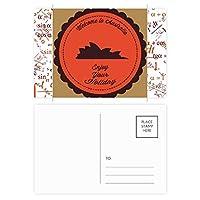 オーストラリアの都市シドニーオペラハウス風味 公式ポストカードセットサンクスカード郵送側20個