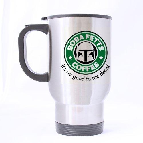 Nice Boba Fett's Coffee Mug - 100% Stainless Steel Material Travel Mugs - 14oz sizes