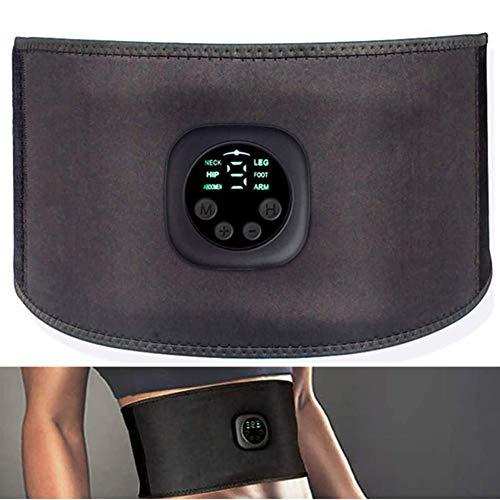 Elettrostimolatore Cintura per Addominali, Elettrostimolatore Muscolare, EMS Stimolatore Muscolare, Unisex-Adulto, Nero, Taglia Unica