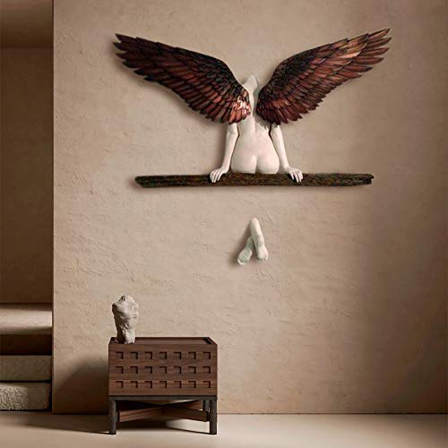 Wall Sculpture Angel Art Sculpture Home Wall Decoration 3D Statue,Icarus Had a Sister Angel Art Sculpture Wall Decoration,For Living Room Bedroom Decoration