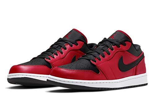 Nike Air Jordan 1 Low, Zapatillas de bsquetbol Hombre, Gym Red Black White, 45 EU