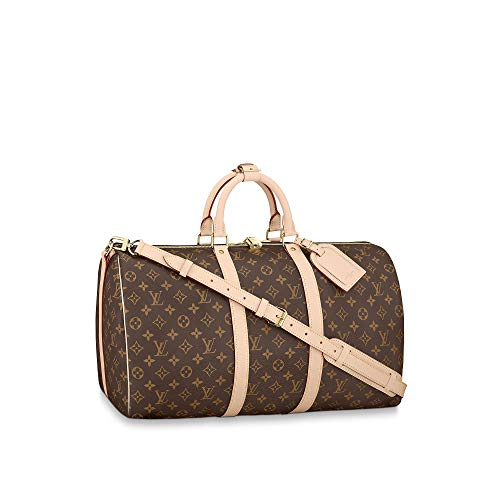 Louis Vuitton Monogram Keepall Bandouliere Travel Bag (Keepall 50)